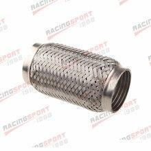 3.5 Exhaust Flex Pipe 3 1/2 x 6 OL Heavy Duty Stainless Steel Interlock