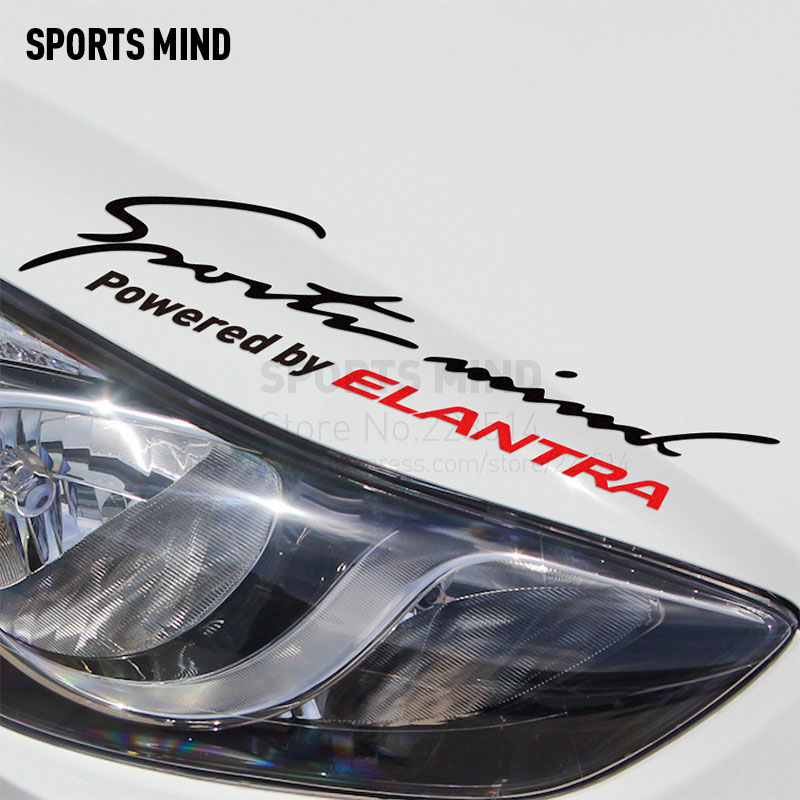 2 Pieces Sports Mind Car Styling On Car Lamp Eyebrow Automobiles Car Sticker For hyundai elantra 2008-2017 exterior accessories