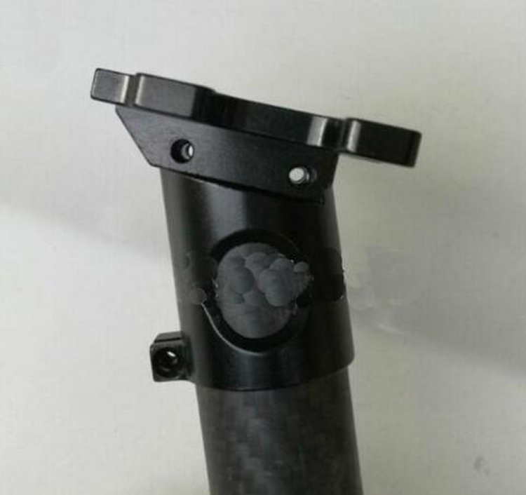 Yuenhoang 1 Pair CNC Aluminum Landing Gear Connector Fixture Holder for Dia.16mm 20mm 22mm  25mm Carbon Fiber Tube telescope 98 100mm cnc tube rings pair