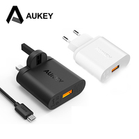 Aukey 18W Quick Charger 2 0 With Qualcomm Certificated Wall Charger EU US Plug For Samsung