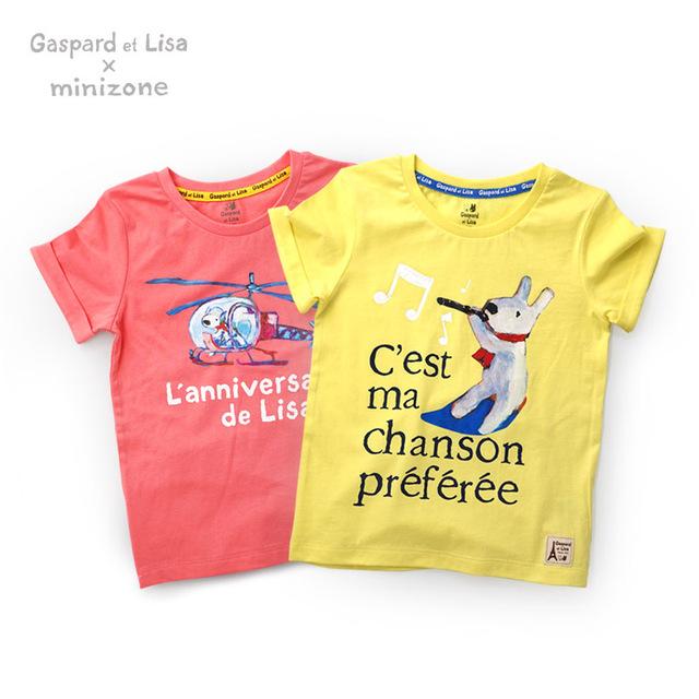 De alta Calidad de los Muchachos de Los Grils de Algodón Carta Niños de Impresión de Ropa de Manga Corta Camiseta de Los Niños Camisetas Ropa Roupas Infantis Menino