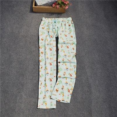 Женские брюки; длинные брюки; тканые хлопковые брюки для сна; женские брюки - Цвет: planting tree
