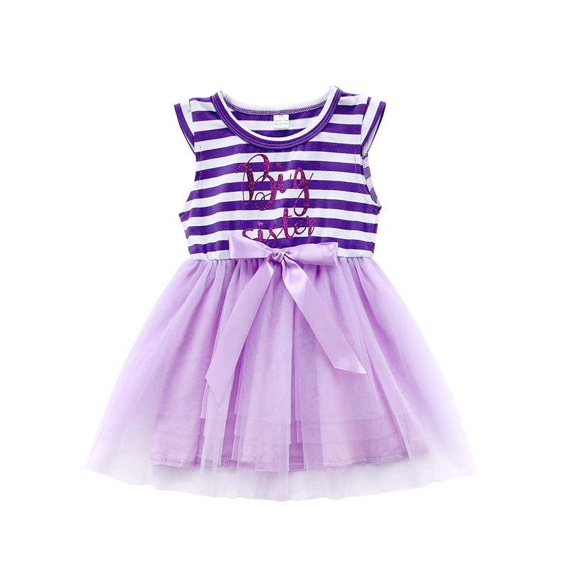 foto de 1 6Y Big Sister Kids Girls Summer Dress Sleeveless Striped