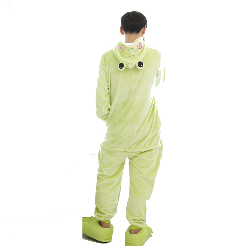 Kawaii Flannel Pijama kigurumi For men Minion Panda Tiger Giraffe Onesie Adult Sleepwear Couple Pyjamas Halloween Party Jumpsuit
