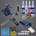 Permanent Makeup Machine Tattoo Beginner Kits 8 Wrap Coils Guns Tattoo MachineSet Black Pigment Sets Power Supply Tato Supplies