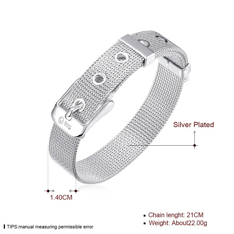 H006 красивые запонки серебренные конструкции браслеты для наручных часов& Браслеты 14 мм X 21 см Модные украшения