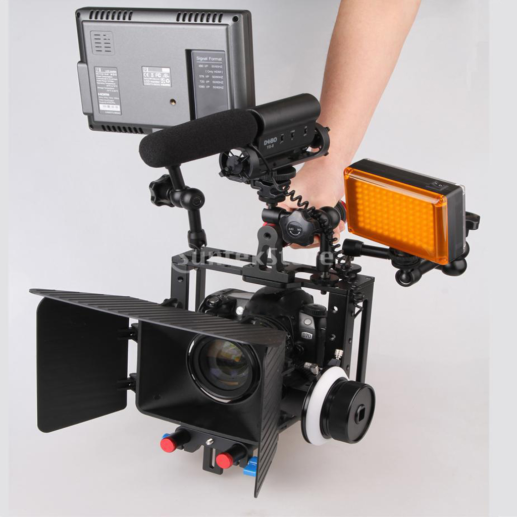 Aluminum Alloy Camera Video Cage Movie Making Kit Stabilizer & Handle Grip цена и фото