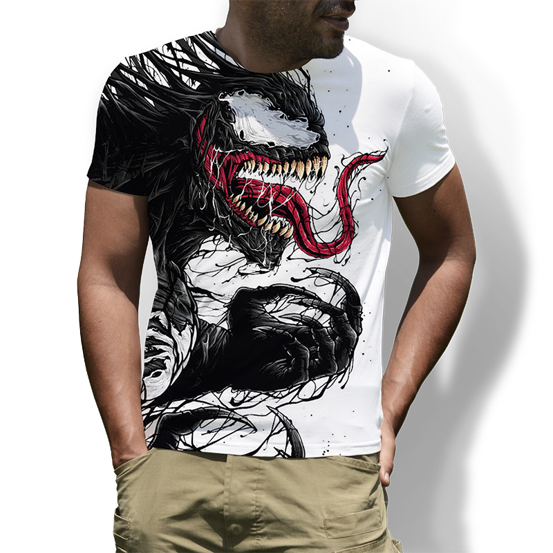 Men's Superhero Movie Venom 3D Printed   T  -  Shirt   Mens Short Sleeve   T     Shirt