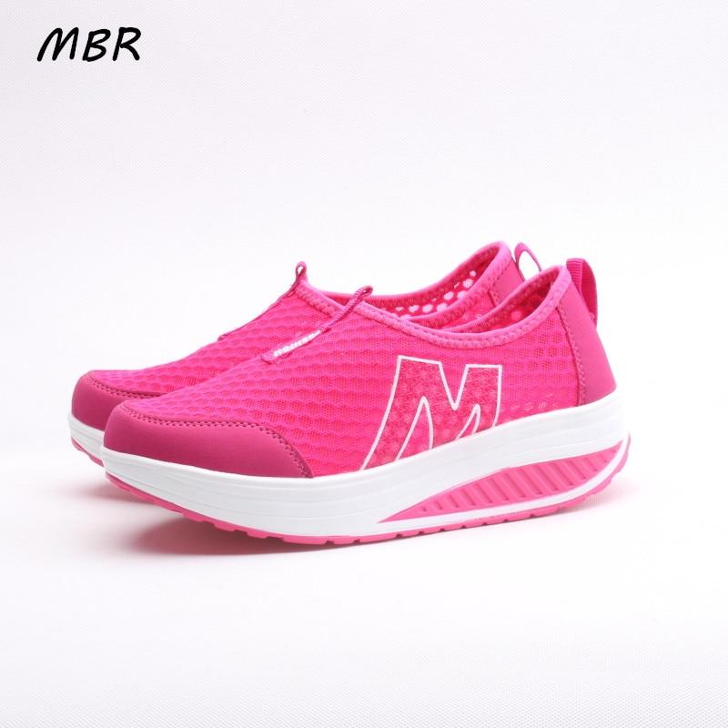 MBR Nuevas Mujeres Ocasionales Zapatos de Plataforma de Cuero Estampado Floral E