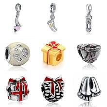DIY  charms plata de ley 925 original bracelet jewelry valentine's day mary poppins bijoux sieraden joyas beads jewellery цена