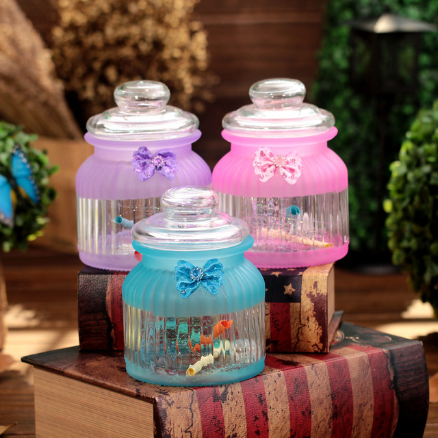 Top Quality Lucky Glass Bottle Flower Luminous Ball For Home Decorative Crafts Wishing Bottles Put Message In A Bottle Best Giftin Bottles Jars Awesome Ball Decorative Jars