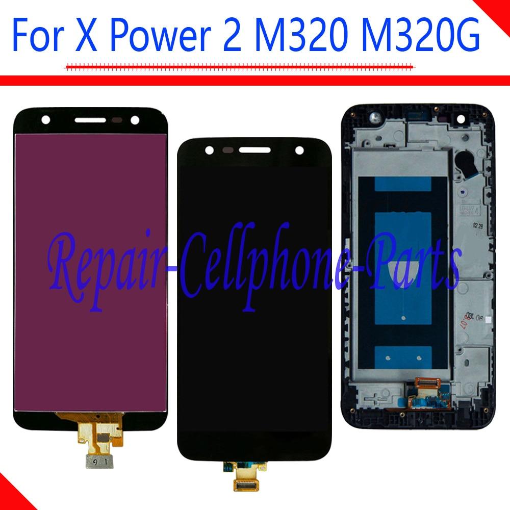 Nuevo Negro 5,5 pulgadas LCD Full display + pantalla táctil digitizador Asamblea + marco para LG X Power 2 m320 M320G M320F M320N
