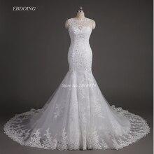 Vestidos De Novia Wedding Dress 2017 Mermaid Beaded Real Photo Robe De Mariage Wedding Gowns With Lace Appliques Beaded