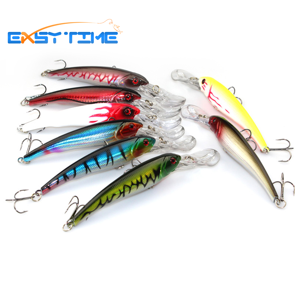 Easy Time 8pcs/lot Minnow Fishing Lure 16.5CM 29G 2# Hooks Fish Wobbler Tackle Crankbait Artificial Hard Bait Swimbait natural selection