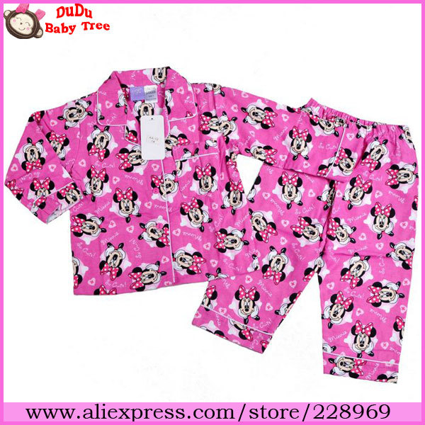 0aa0230dcf Wholesale 5 sets/lot 2013 Baby Girls Autumn/Winter Pajamas Set,Minnie Mouse  Cartoon Designer Night Suit For Girl,Kid's Sleepwear