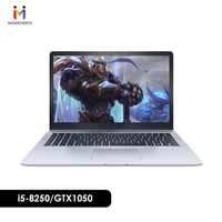 Ultra slim Office Laptop MaiBenBen DaMai 6S 15.6 i5 8250U /8G/128G SSD/NVIDIA GTX1050 4G Graphics Card/DOS Silver Notebook Game