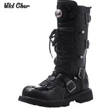 Hohe Qualität Echtes Leder Männer hohe Stiefel Schwarz Militärstiefel Taktische Aufladungen Armee Stiefel Männer botas Leder Schuhe Männer Schuhe