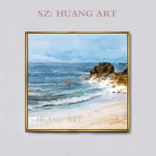 Boat large mural sea view pier hot sale hand-painted high quality modern abstract decorative oil painting