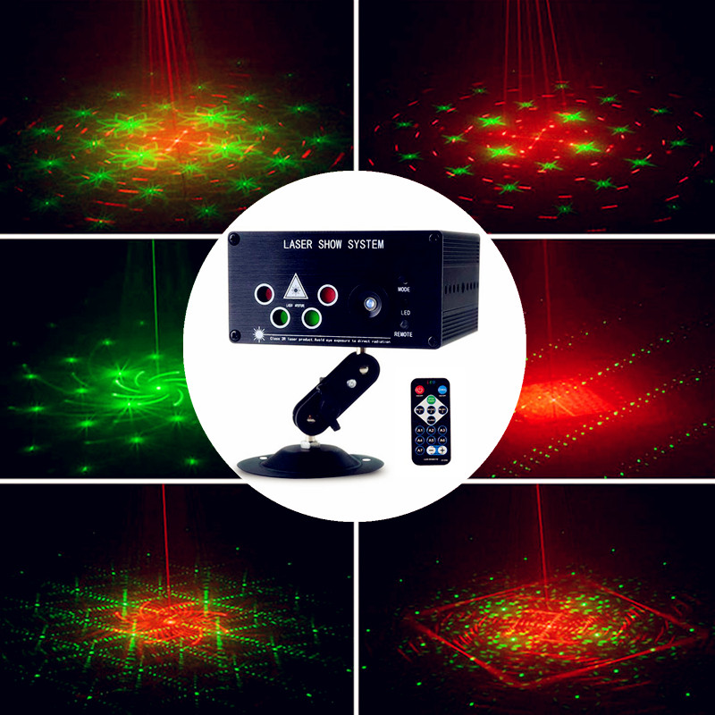 Mini LED Laser Light RGB 120 Patterns Stage Lighting Effect Laser Projector Auto Sound Actived Lamp Xmas Party Disco Lights atotalof 24 patterns rgb mini laser projector light dj disco party music laser stage lighting effect with led rgb xmas lights