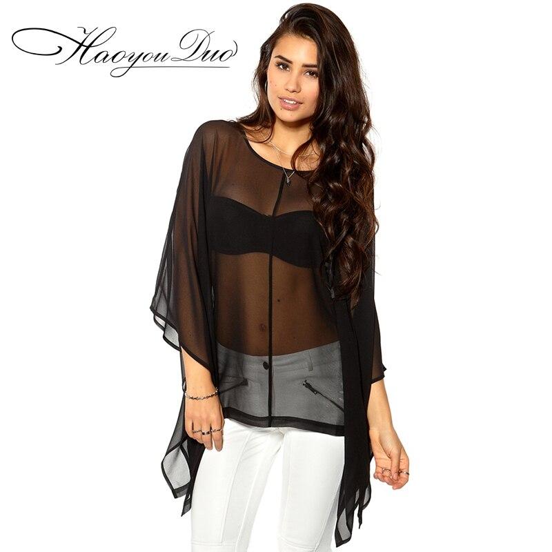 Online Buy Wholesale transparent chiffon shirt from China ...