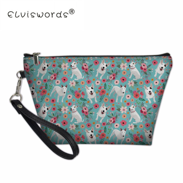 e0001fa6c6cc US $5.2 25% OFF|Pit Bull Terrier Portable Bags for Travel Women Makeup  Vanity Bag Organizer Ladies Cosmetic Case Summer Toiletry Storage Pouch-in  ...