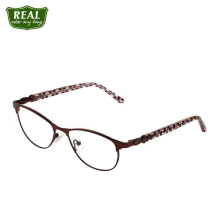 Stainless Steel Frame Cateye Optical Diamante Temple Metal Myopia Men Women Eyewear Accessories