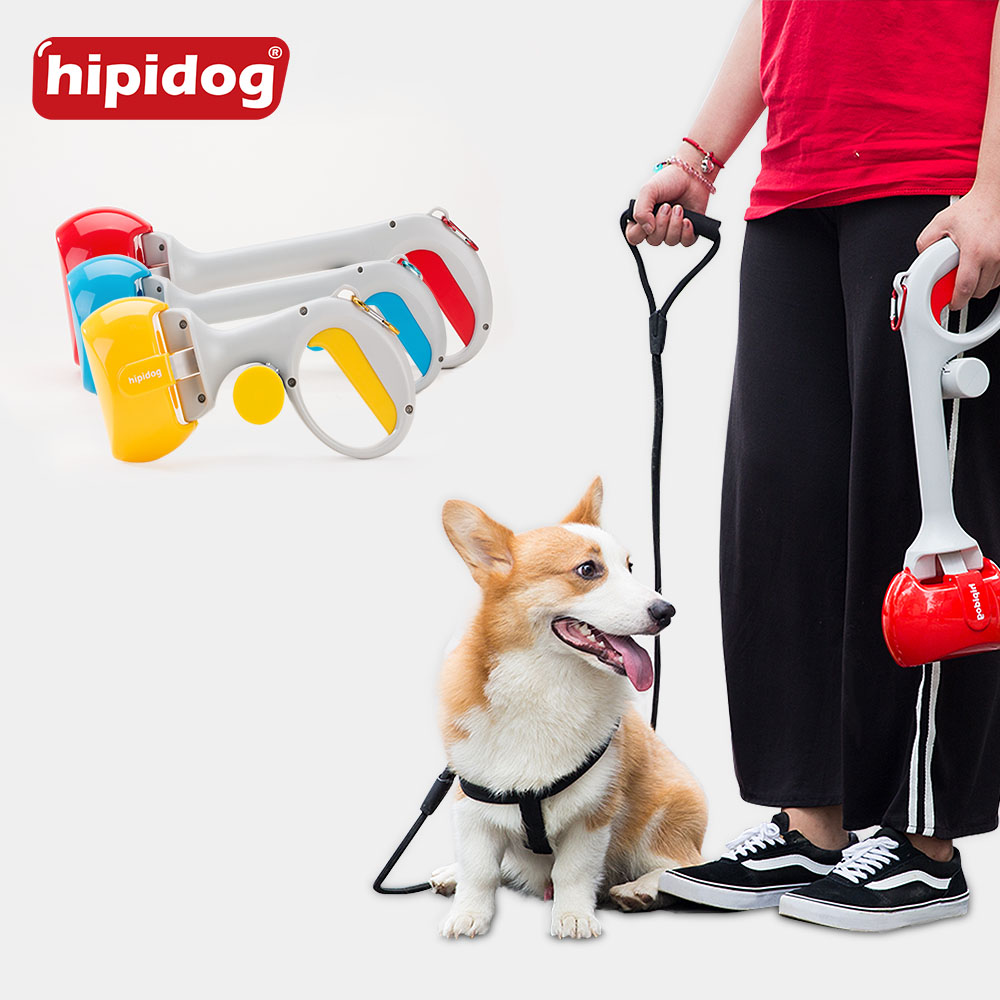 Hipidog Eco-Friendly Portable Pet Dog Cat Waste Pooper Scooper Poop Bag Pickup Clip Easy Cleaning Tool Pet Accessories Supplies