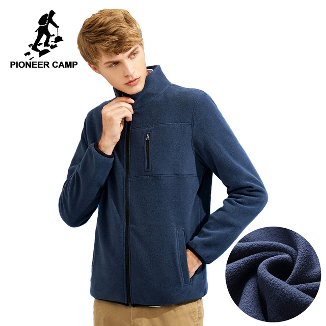 Pioneer Camp new arrival warm fleece jacket men brand clothing casual solid thick winter coat male quality outerwear AJK702388