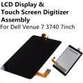 LCD Screen Display Touch Panel Digitador Assembléia Lente de Vidro Para Dell Venue7 3740 Local 7 Reparação Parte Substituição FreeShipping
