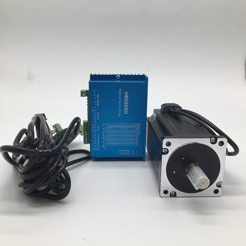 NEMA34 86mm Flange 12Nm 1714Oz in DSP Closed Loop Hybrid Stepper Motor Drive Kit Easy Servo