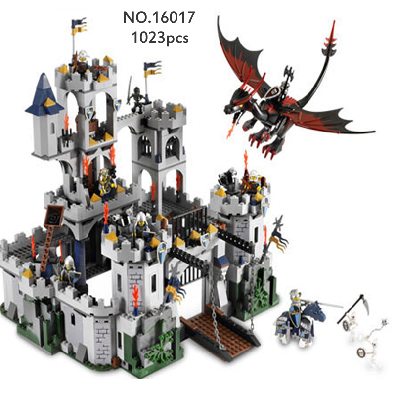 Lepin 16017 Movies Series Building Blocks King Castle Figure Siege War Education DIY Model Toys Gifts For Children Birthday lepin 16017 series castle series the king s castle siege set children educational building blocks bricks toys model gifts 7094