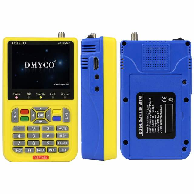 Wholesale price 100% Original dmyco V8 Finder HD DVB-S2 High Definition  Satellite Finder MPEG-2 MPEG-4 DMYCO satellite Finder V8