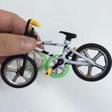 Alloy mini BMX Finger Mountain Bikes Toys Retail Box + 2pcs Spare Tire mini-finger-bmx Bicycle Creative Game Gift for children(China)
