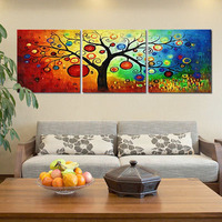 P037 Max Size 60x60cmx3 Frameless Pictures Painting By Numbers DIY Digital Oil Painting On Canvas Home