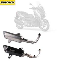 Xmax 300 logotipo láser Akrapovic tubo de escape de fibra de carbono silenciador tubo de escape para Yamaha XMAX 250 de 300 cc 2017- 18