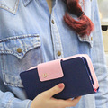 2017 Hot Sale 5 Colors Fashion Women Wallets PU Lady Long Wallet Portable Women Purse Card Holder Day Clutch Ladies' Purse W023