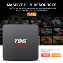Original T95S2mini Android 7.1 TV Box Smart TV Box Amlogic S905W Quad Core 2GB 16GB 2.4GHz WiFi Media Player Set top box android 5 1 original kii pro dvb t2 s2 amlogic s905 tv box quad core bt4 0 2gb 16gb 2 4g 5g wifi smart media player