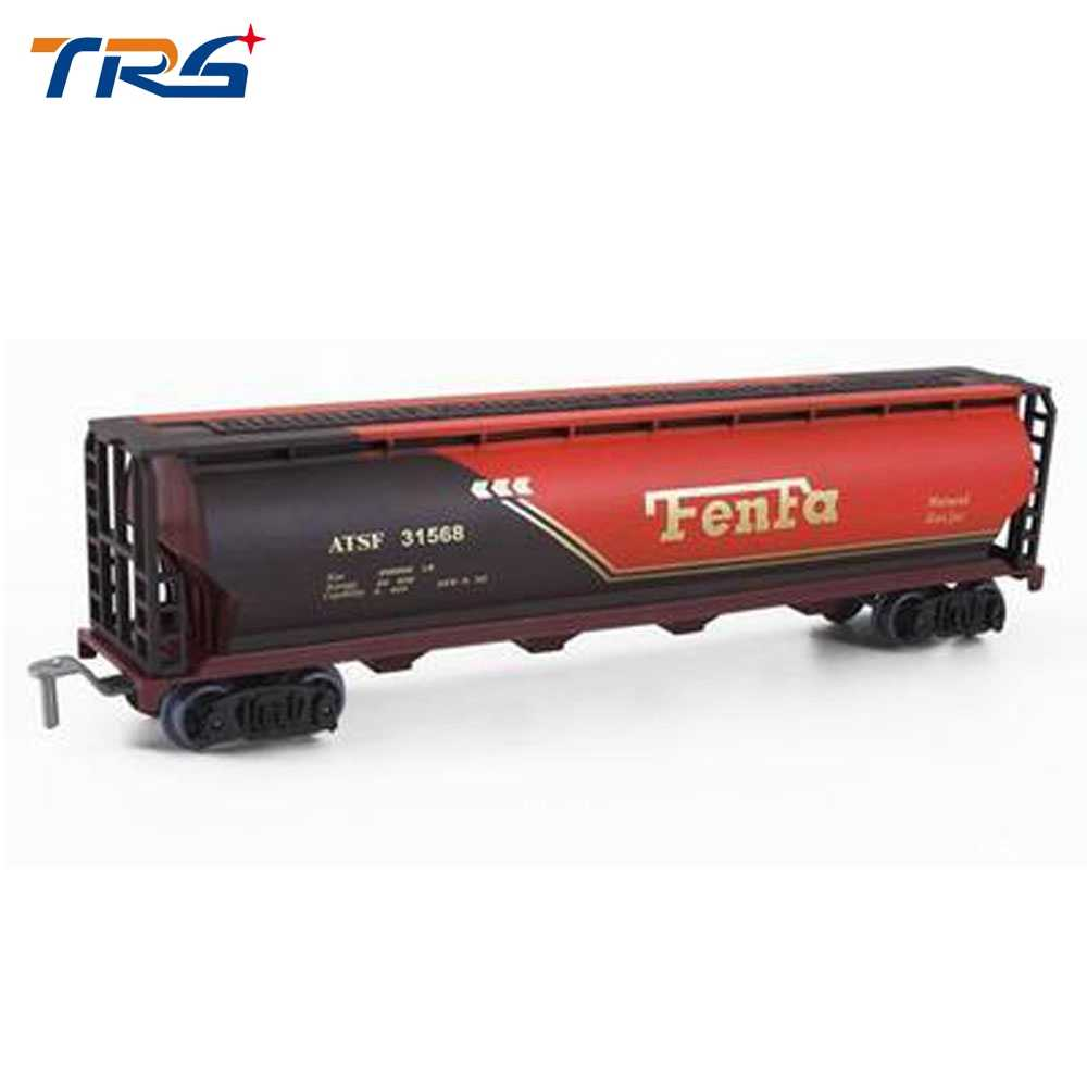 2pcs plastic train container Railroad Layout General train accessories tanker freight car coal carriage passager car