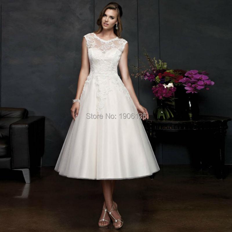 Compare Prices on Plus Size Tea Length Wedding Dress- Online ...