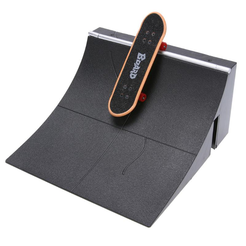 Mini Table Game Finger Skating Board With Ramp Parts Track Training Toy Gift For Deck Fingerboard