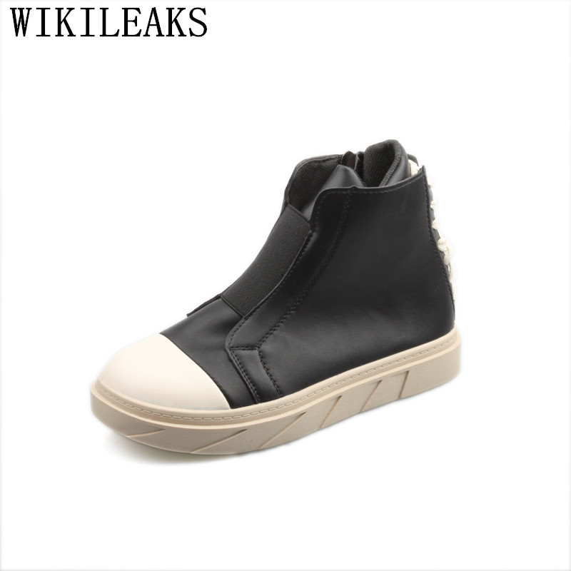 2019 Designer High Top Shoes Women Zapatos Mujer Casual Plataforma Tenis Feminino Sneakers Designer Harajuku Ladies Flat Shoes