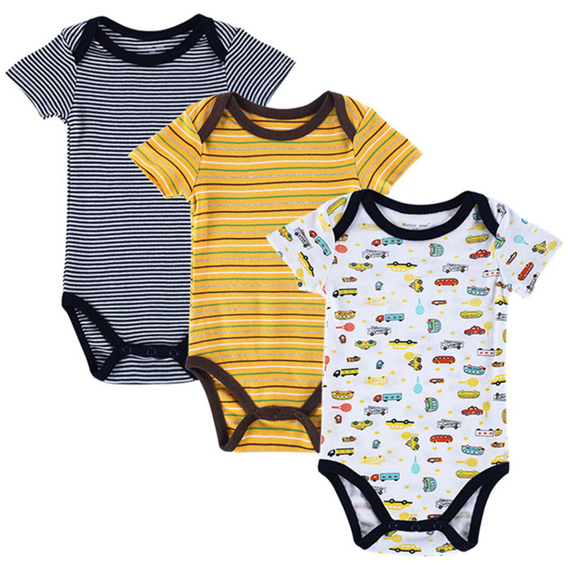 Mama Nest 3 PCS / lot Baby Romper Fata cu Bratara cu Imprimanta Mica - Haine bebeluși