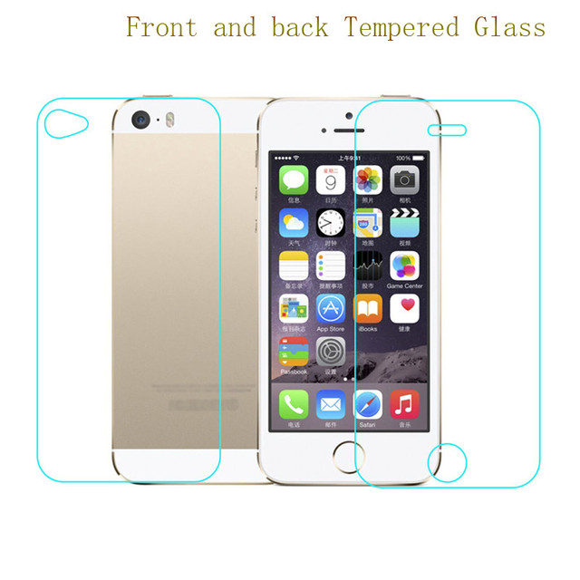 92ef77cfdf8 9H HD Front+Back Full Body Premium Tempered Glass Screen Protector On The  For iPhone 5 5s 6 6s 6Plus 6s Plus 7 7Plus Film