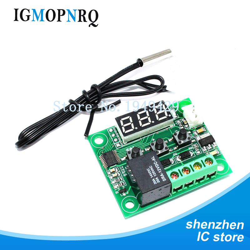 1 pièces W1209 DC 12V chaleur cool temp thermostat interrupteur de contrôle de température régulateur de température