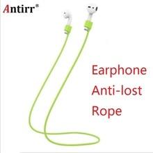 Anti-lost Soft Silicone Rope Hanging String Lanyard i7 bezvadu Bluetooth austiņu aksesuāri bezmaksas piegāde