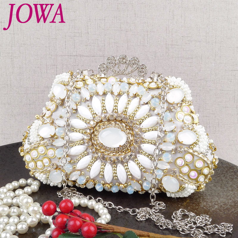 2018 New Design Womens Fashion Evening Bag Vintage Gem Mini Handbag Wedding Party Bride Dress Clutch Chain Shoulder Night Purse