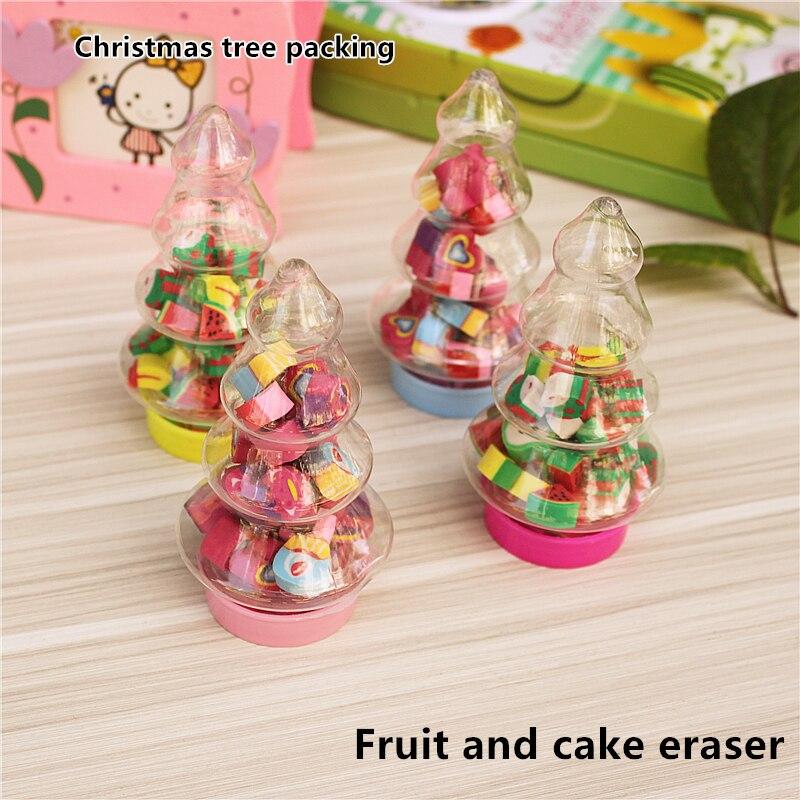 rbol de navidad pastel de frutas borrador para gomas de borrar estudiante regalos de navidad la