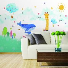 Custom 3d wallpaper Nordic minimalist childrens room background custom wall painting - silk waterproof material