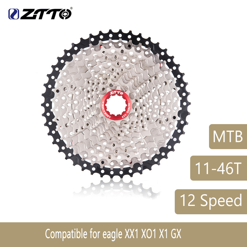 ZTTO Mountain Bike MTB 12 Speed Cassette 12S 46T Bicycle Parts Wide Ratio Freewheel Sprocket For Eagle XX1 XO1 X1 GX 627gZTTO Mountain Bike MTB 12 Speed Cassette 12S 46T Bicycle Parts Wide Ratio Freewheel Sprocket For Eagle XX1 XO1 X1 GX 627g