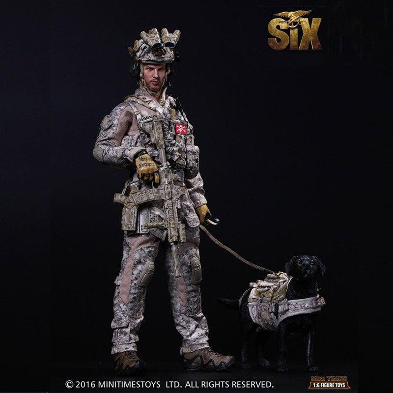 Американские морские уплотнения шесть командных Коммандо 1/6 Солдат модель набор с собакой фигурки и Игрушки Подарочная коллекция